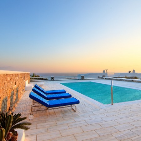 Mykonos Villa Lea sunset time
