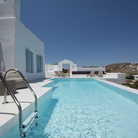 mykonos villa with pool