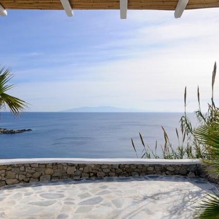 villa Magia Mykonos exterior veranda sea view