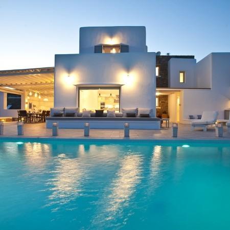 exterior villa night