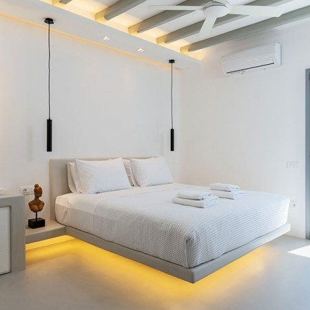 double bedroom with led lighting