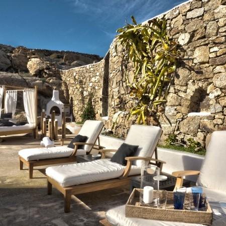 sun loungers Villa Oasis Mykonos