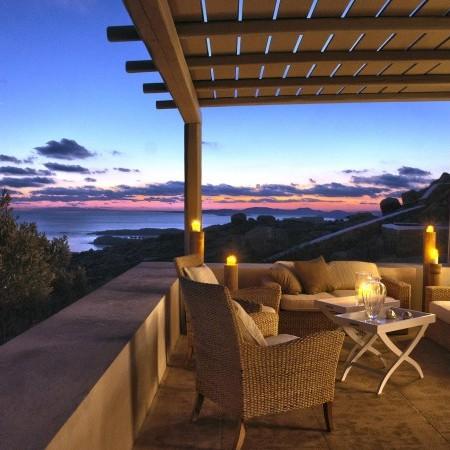 oasis retreat exterior night