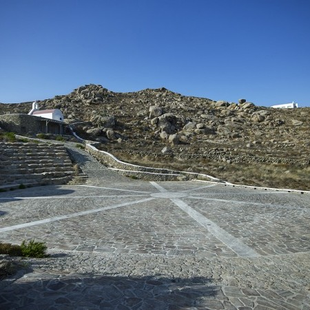 Mykonos villa private heli pad