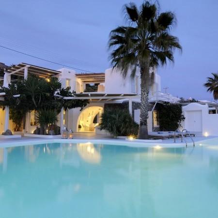 Mykonos Villa sunset time