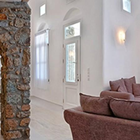 Mykonos villa psarou living room
