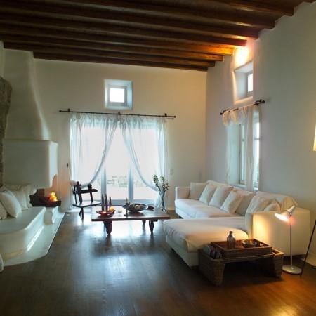 Villa Sanja Mykonos living room