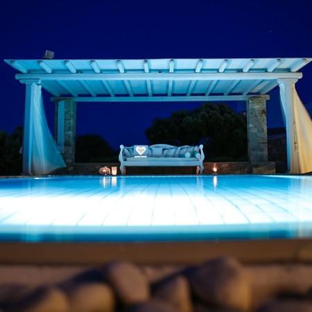 Mykonos Villa Satori at night