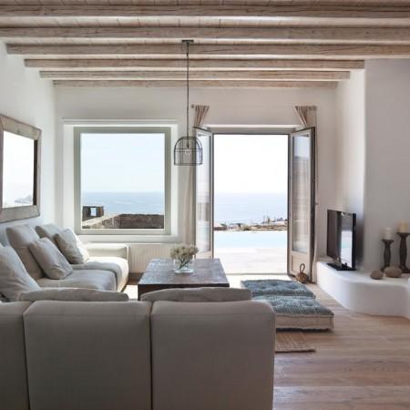 villa Seaview Mykonos living room