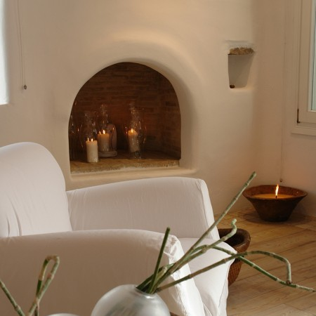fireplace private villa