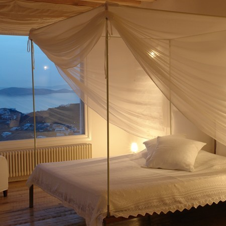 double bedroom with sea view