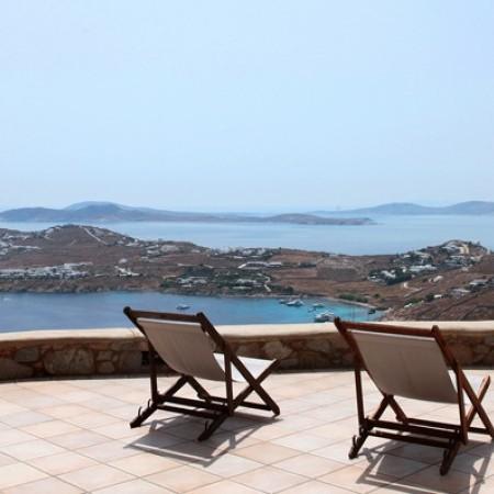 Secret of Mykonos outdoor area