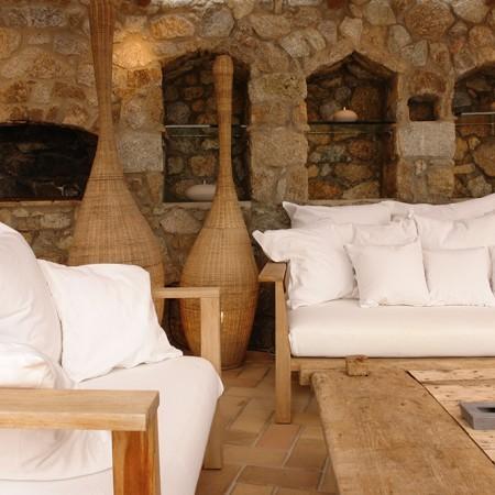 secret of Mykonos outdoor relaxation area