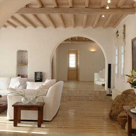 villa secret of Mykonos main living room