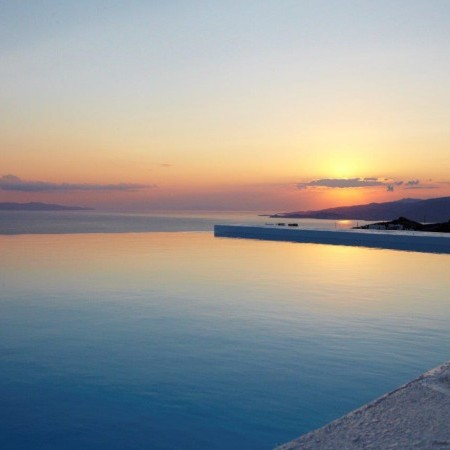sunset view from villa stardust mykonos