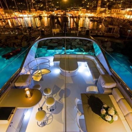 Pandion yacht night