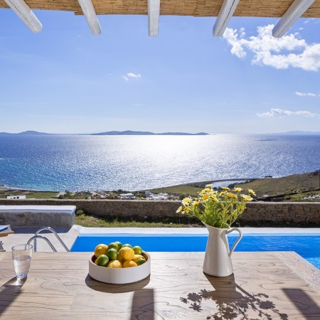mykonos villa sea view