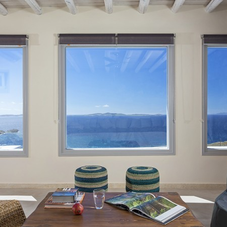 Aegean View Villa living room
