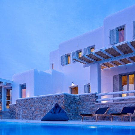 Aegean View Villa night time