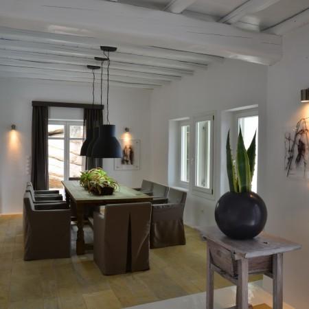Villa Afitis Mykonos dining area