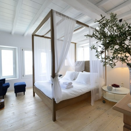 Mykonos villa Afitis master bedroom