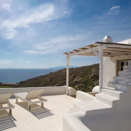 Mykonos villa Afitis terrace