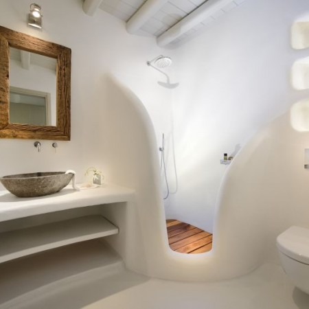 bathroom with shower villa Sky