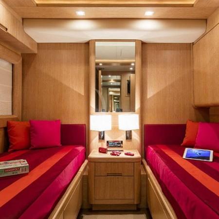 mythos yacht twin cabin