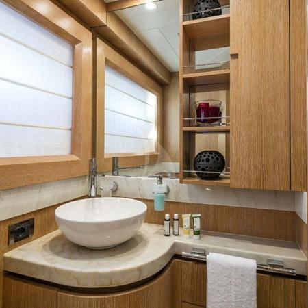 mythos yacht bathrooms
