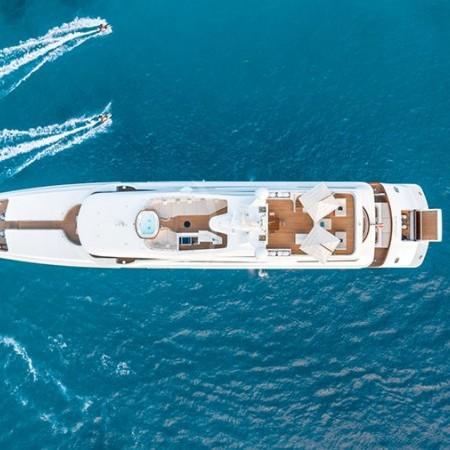 o'mathilde superyacht aerial view