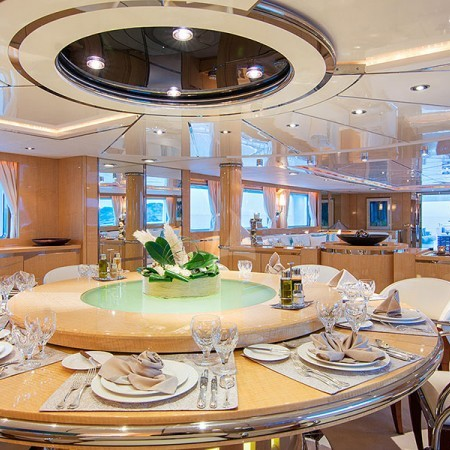 o Natalia yacht indoor living
