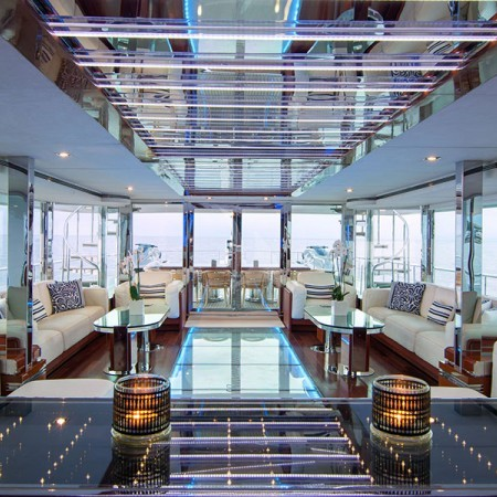 o Natalia yacht living area
