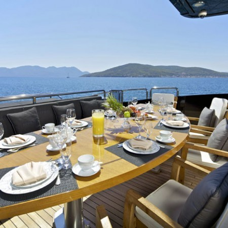 opati yacht deck dining