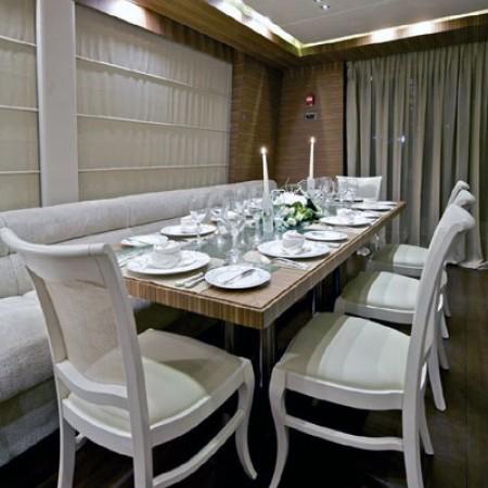 opati yacht dining interior