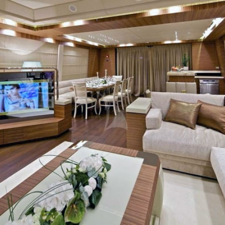 opati yacht living area