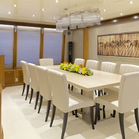 Oleanna Superyacht indoor dining