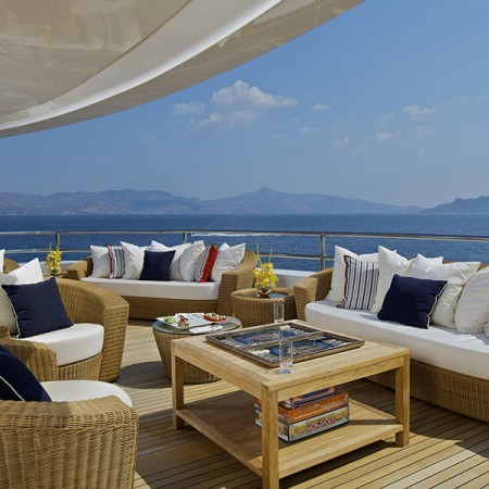 Omega Yacht deck lounge