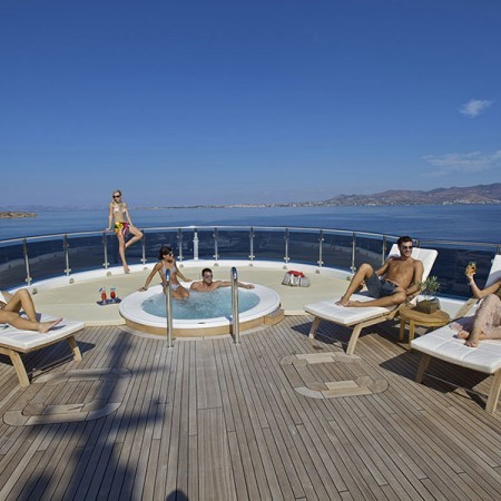 Omega superyacht deck