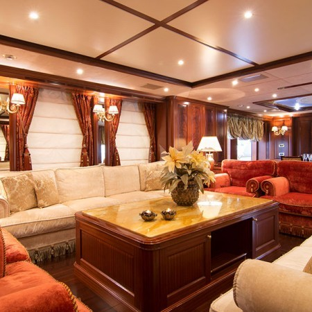 option b yacht living area