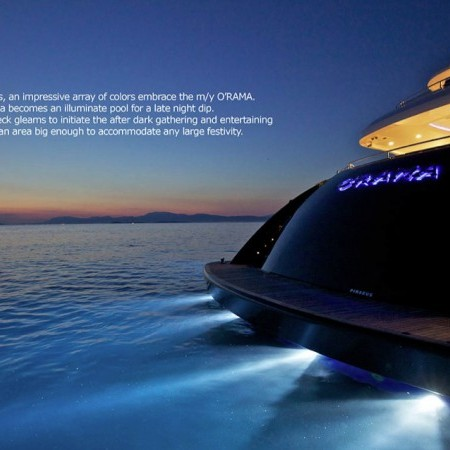 mia rama yacht lights