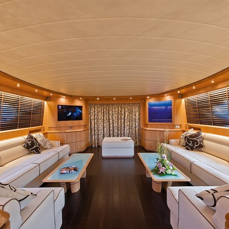 luxury yacht salon