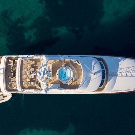 Riva I Yacht aerial shot