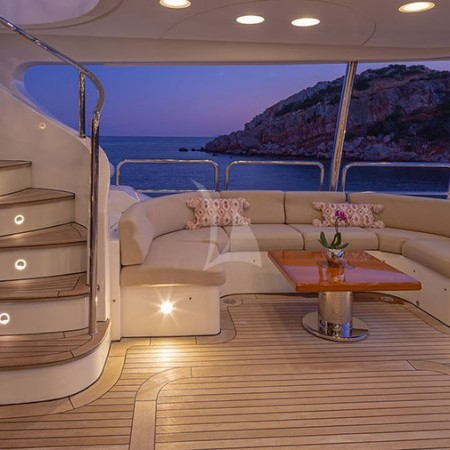 Riva I Yacht  at night