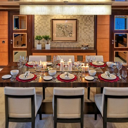 serenity yacht dining