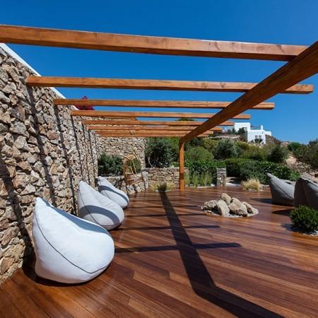 exterior deck at the villa
