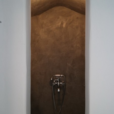 built shower