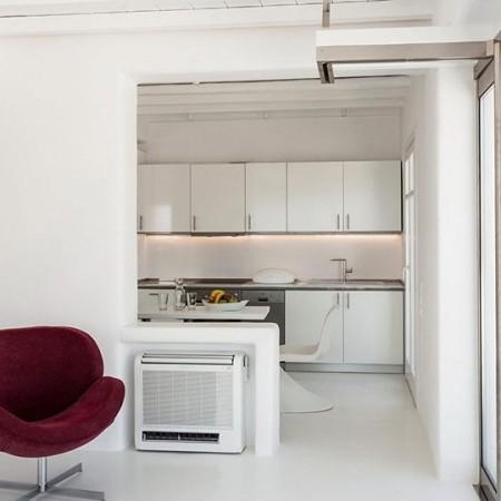 minimal decor inside the villa