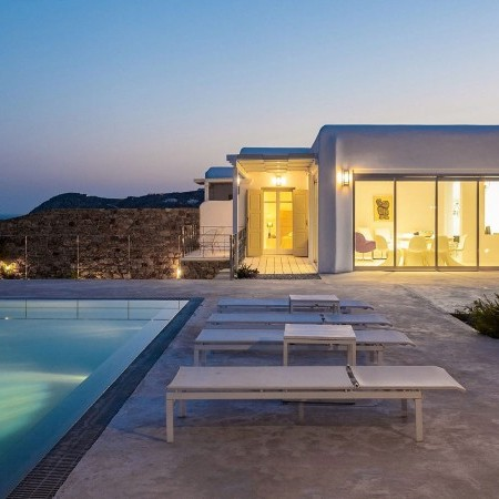 vacation property right above Elia beach Mykonos