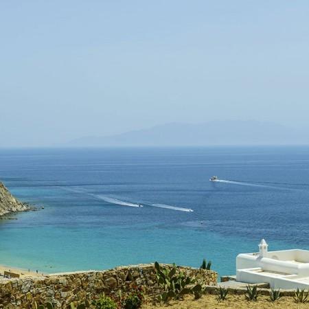 the view to Elia beach