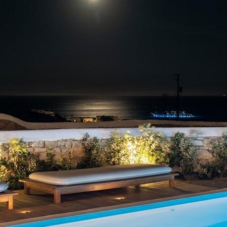 sea view at night